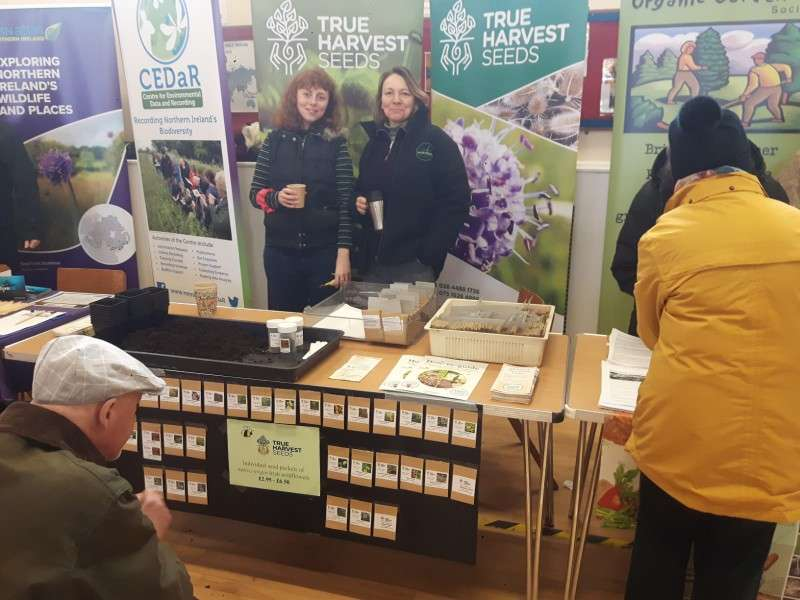 True Harvest Seeds, volunteers Ciera and Debbie at Ballynature Day 2020.
